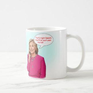 Donald- und Hillary-Telefongesprächsbecher Kaffeetasse