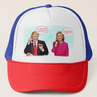 Donald- und Hillary-Telefongesprächshut Truckerkappe