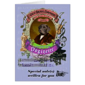 Donizetti Parodie Dogizetti Tierkomponist-Hund Karte