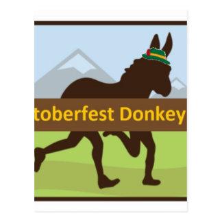Donktoberfest Esel-Schlag Postkarte