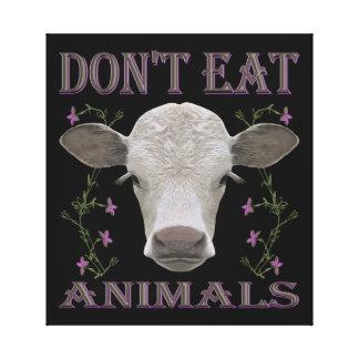 DON'T EAT ANIMALS - BL01 LEINWANDDRUCK
