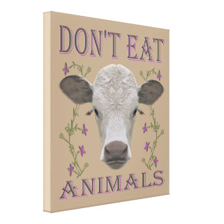 DON'T EAT ANIMALS - BL02 LEINWANDDRUCK