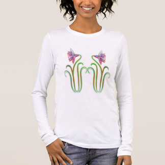 DoppelBlumen-Illustrations-Kunst auf T-Shirts