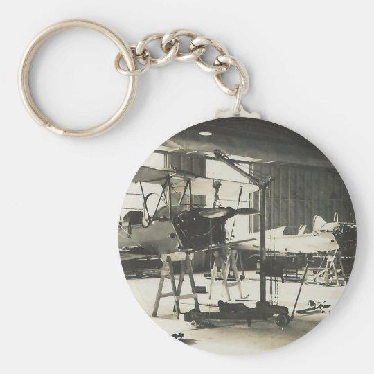 Doppeldecker-Trainer im Jahre 1941 Standard Runder Schlüsselanhänger