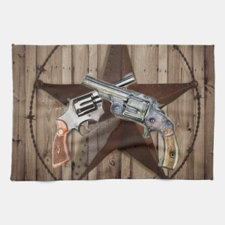 """Doppelgewehrposten des rustikalen alten Westerns """" Handtuch"""