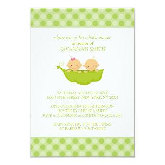 Doppeljungen-u. Mädchen-Babyparty-Einladungen 8,9 X 12,7 Cm Einladungskarte