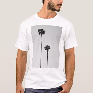 Doppelpalmen Miami schwarzes u. weißes T-Stück T-Shirt
