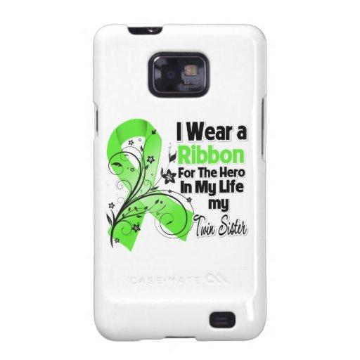Doppelschwester-Held in meinem Leben-Lymphom-Band Samsung Galaxy S2 Cover
