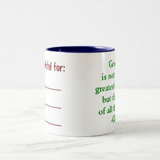 Doppelseitige Dankbarkeits-Tasse Zweifarbige Tasse