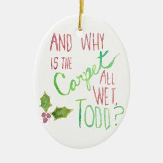 Doppelseitige Feiertags-Verzierung Todds und Margo Keramik Ornament