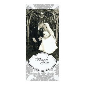 Doppelseitige Foto-Karte: Schwarzes u. Weiß 10,2 X 23,5 Cm Einladungskarte