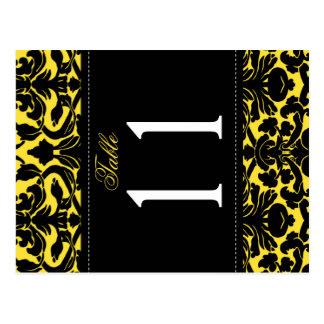 Doppelseitige gelbe und schwarze postkarten