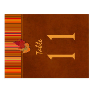 Doppelseitige Herbst-Blätter-und Postkarten