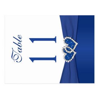 Doppelseitige königliches Blau-und Postkarte