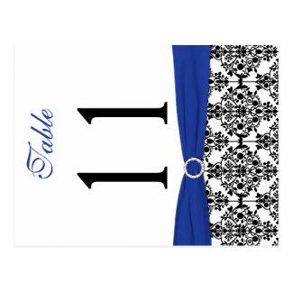 Doppelseitige schwarze, weiße, blaue postkarten
