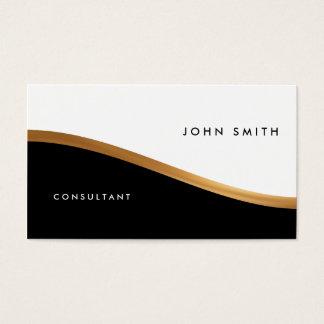 Doppelseitige Visitenkarte, schwarz u. weiß, Gold Visitenkarte