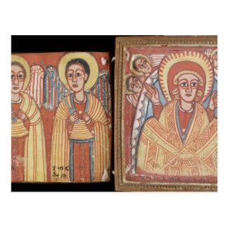 Doppelseitiger Diptych mit Mary Postkarten