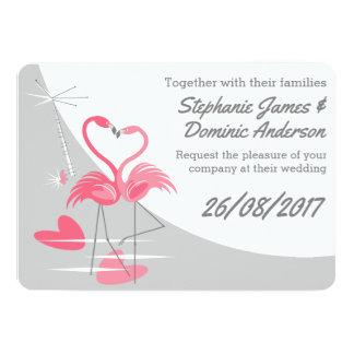 Doppelseitiger Text des Flamingo-Liebe-großen Karte