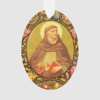 Doppelseitiges Acryl St Dominic de Guzman (P.M. Ornament