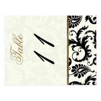 Doppelseitiges Elfenbein, Gold und schwarze Tischn Postkarte