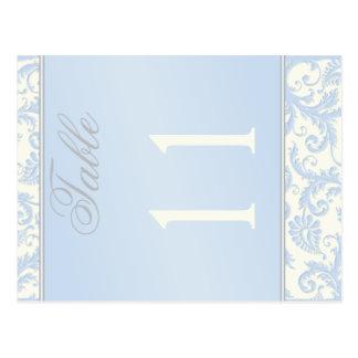 Doppelseitiges Elfenbein und blaue Postkarten