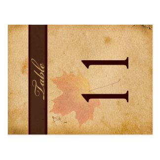 Doppelseitiges Herbst-Blätter auf gealterter Postkarten