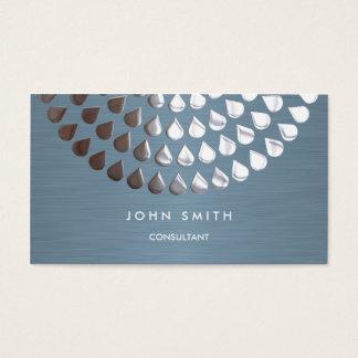Doppelseitiges Visitenkarte-Silber und blaue Visitenkarte