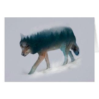 Doppelte Belichtung des Wolfs - Wolfwald - Wolf Karte