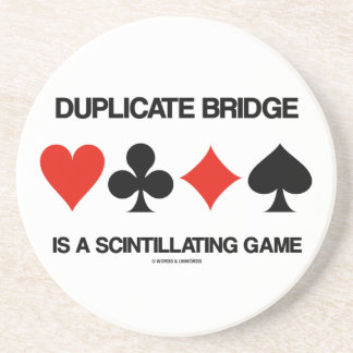 Doppelte Brücke ist ein funkelndes Spiel Getränkeuntersetzer