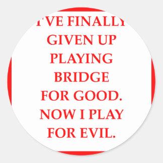 doppelte Brücke Runder Aufkleber