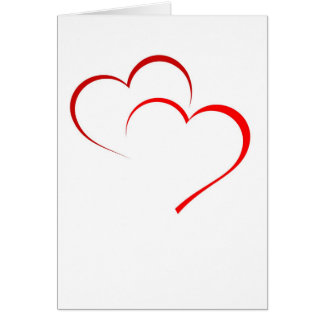 Doppelte Herz-Karte Grußkarte