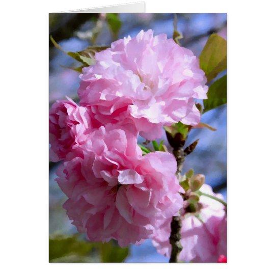 Doppelte Kirschblüten Karte