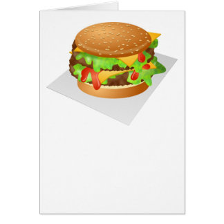 Doppelter Cheeseburger Karte
