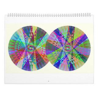 Doppelter, dreifacher, vierfacher Kalender des