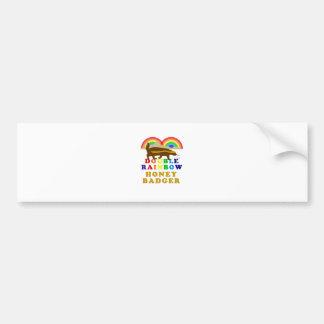 Doppelter Regenbogen-Honig-Dachs Autoaufkleber