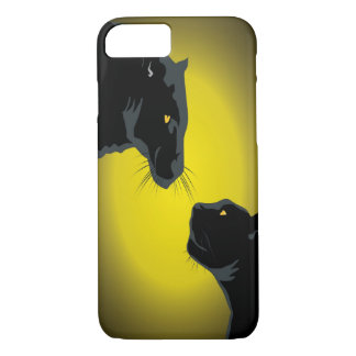 Doppelter schwarze Panther iPhone 7 Kasten iPhone 7 Hülle