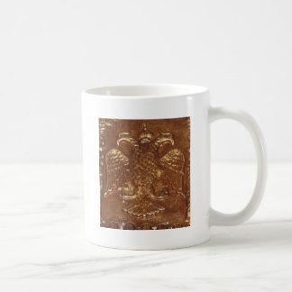 Doppeltes ging byzantinisches Reich-Wappen Eagles Kaffeetasse