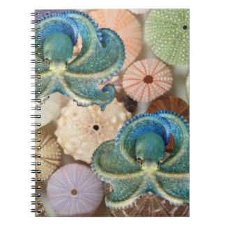 Doppeltes Kraken-Spirale-Foto-Album Notiz Buch