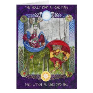 Doppeltes Porträt des Eichen-Königs und des Karte