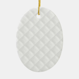 Doppeltes Seitenweiß gestepptes Leder Keramik Ornament