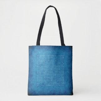 Doppeltes versah blaue Tasche mit einem