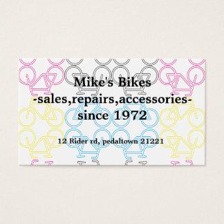 Doppeltes versah Fahrrad-Visitenkarte mit Seiten Visitenkarte