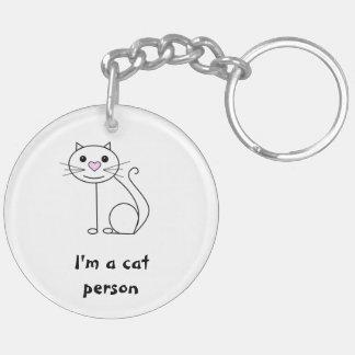 Doppeltes versah Katzen- und Hundeschlüsselring Schlüsselanhänger