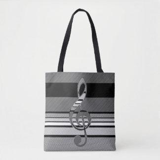 Doppeltes versah Musik-abstrakte geometrische Tasche