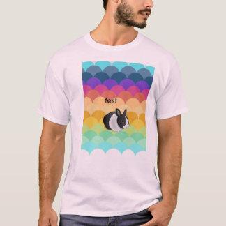 Doppeltes versah Test-Shirt mit Seiten T-Shirt