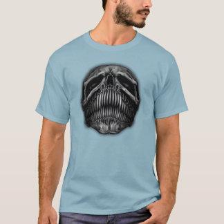 Doppeltes versah trauriger u. glücklicher T-Shirt
