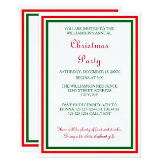 Doppeltes WeihnachtsParty der Karte