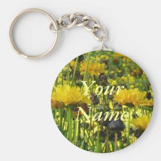 Doré Flowers - Custom remorques de clé de chaîne d Porte-clés
