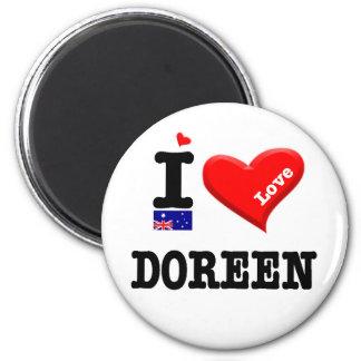 DOREEN - I Liebe Runder Magnet 5,7 Cm
