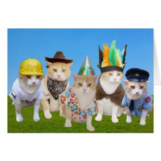 Dorf-Kätzchen-lustige Geburtstags-Karte Karte